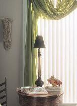 Kirsch Vertical with Decor Swag Valance